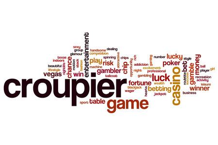Croupier word cloud concept