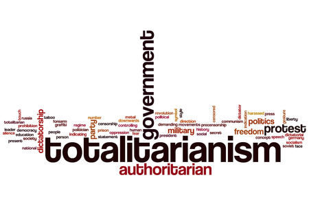 Totalitarianism word cloud concept