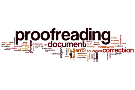 Proofreading word cloud concept