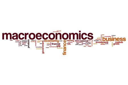 domestic policy: Macroeconomics word cloud concept
