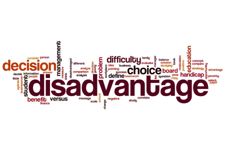 correlate: Disadvantage word cloud concept Stock Photo