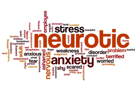 Neurotic word cloud concept Stock Photo