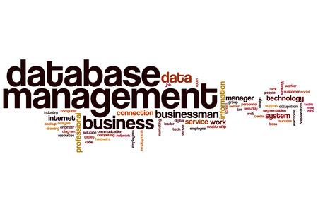 database management: Database management word cloud concept