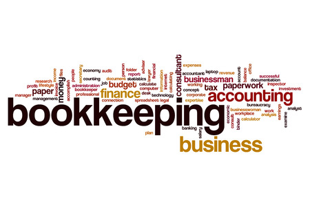 Bookkeeping word cloud concept Imagens - 64193166