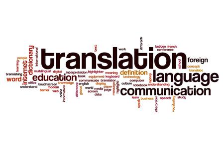 Translation word cloud concept
