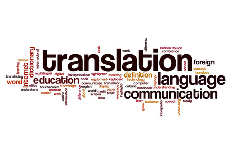 Translation word cloud concept