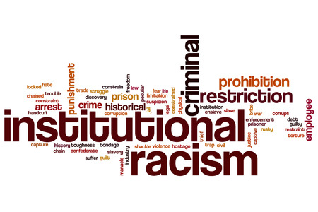 institutional: Institutional racism word cloud concept
