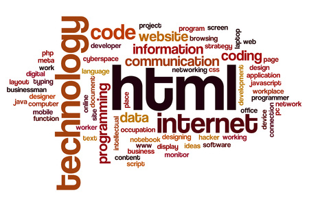 html: HTML word cloud concept