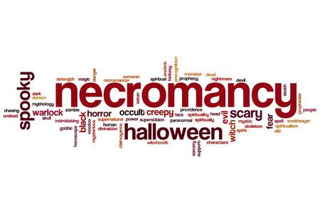 necromancy: Necromancy word cloud concept