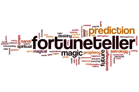 psychic reading: Fortuneteller word cloud concept