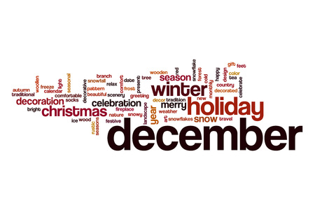 december: December word cloud concept
