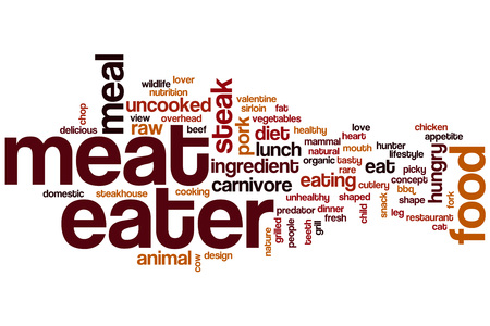meat lover: Meat eater word cloud concept