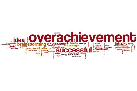 surpassing: Overachievement word cloud concept