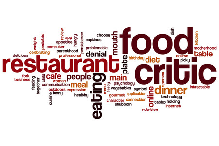 critic: Food critic word cloud concept