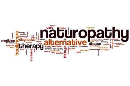 naturopathy: Naturopathy word cloud concept Stock Photo