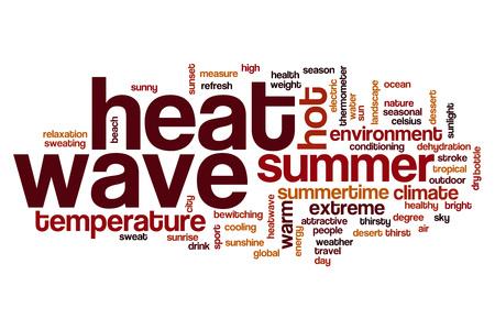 heat wave: Heat wave word cloud concept Stock Photo