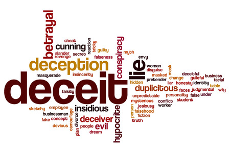 insidious: Deceit word cloud concept
