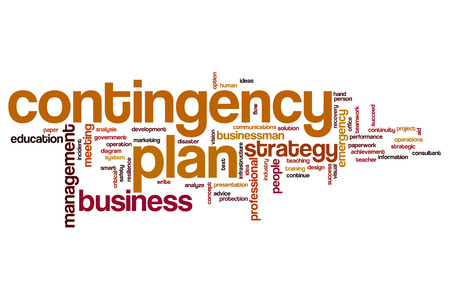 contingency: Contingency plan word cloud concept