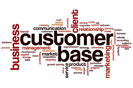 Customer base word cloud concept Stock Photo