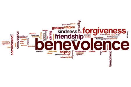 benevolence: Benevolence word cloud concept Stock Photo