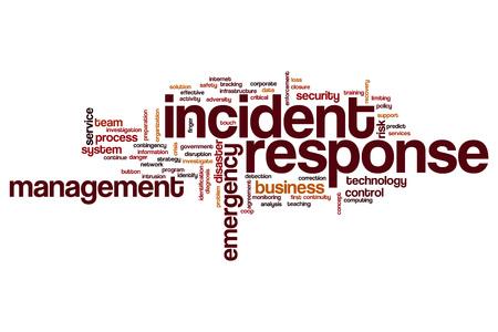Incident response word cloud concept Imagens - 64153874