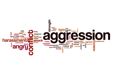 Aggression word cloud concept
