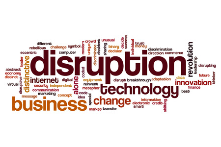 Disruption word cloud concept 스톡 콘텐츠