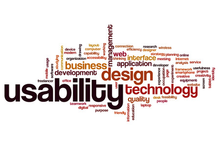 usefulness: Usability word cloud concept