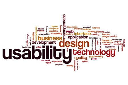 usability: Usability word cloud concept