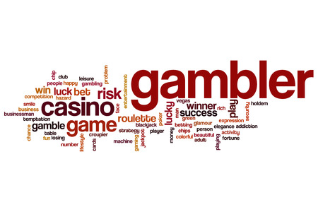 gambler: Gambler word cloud concept Stock Photo