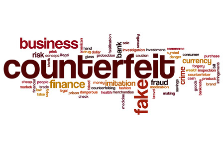 counterfeit: Counterfeit word cloud concept