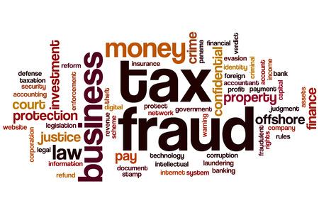 law of panama: Tax fraud word cloud concept