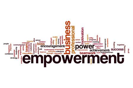 empowerment: Empowerment word cloud concept