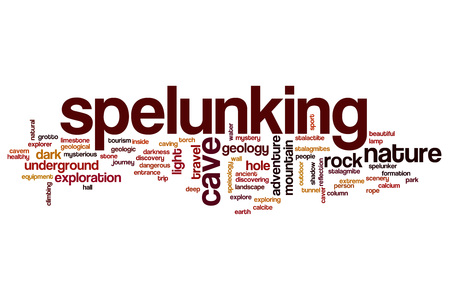 cave exploring: Spelunking word cloud concept