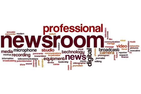 newsroom: Newsroom word cloud concept