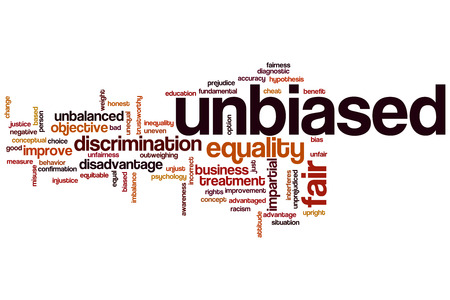 unjust: Unbiased word cloud concept
