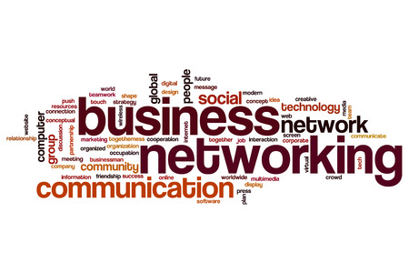 Business networking word cloud concept