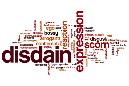 disdain: Disdain word cloud concept
