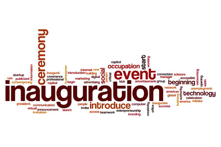 Inauguration word cloud concept Stock Photo