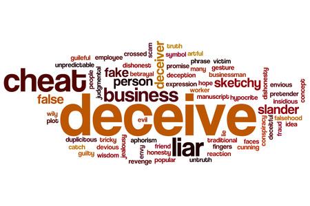 duplicitous: Deceive word cloud concept