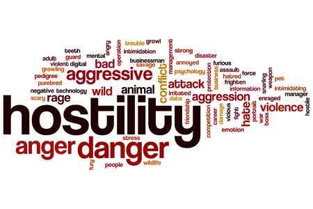 hostility: Hostility word cloud concept