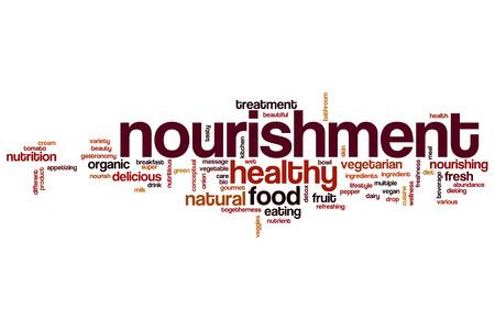 nourishment: Nourishment word cloud concept