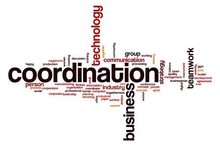 Coordination word cloud concept Stock Photo