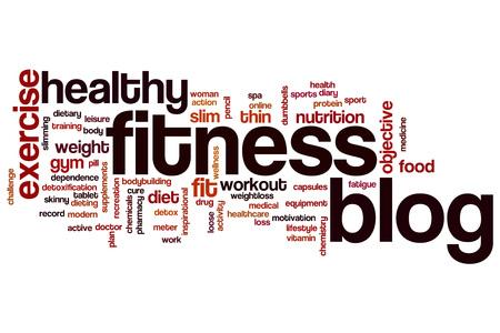 Blog Fitness concept de mot de nuage