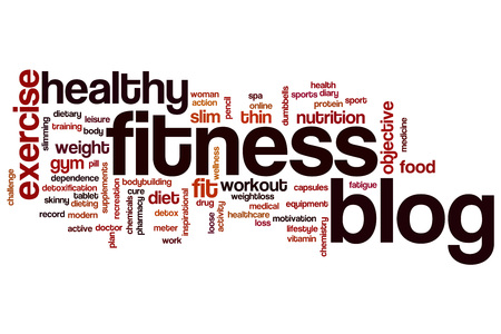 Fitness blog word cloud concept