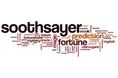 soothsayer: adivino palabra concepto de la nube Foto de archivo