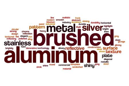 brushed aluminum: Brushed aluminum word cloud concept