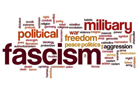 fascism: Fascism word cloud concept