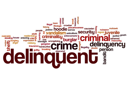 delinquent: Delinquent word cloud concept