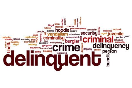 delincuencia: palabra delincuente concepto de la nube Foto de archivo